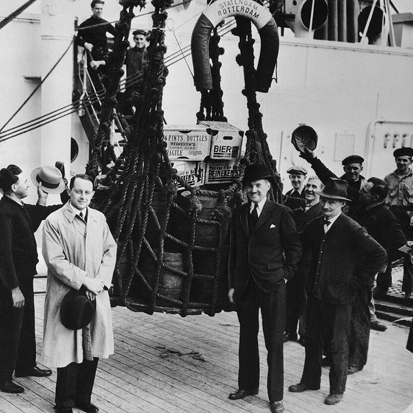 A ship full of Heineken heading to New York right after the Prohibition