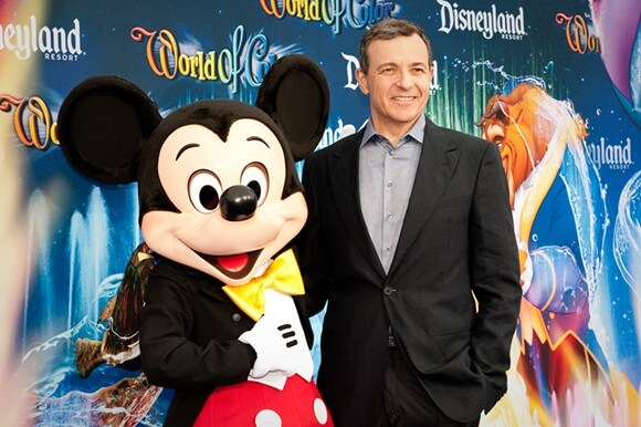 Disney CEO Bob Iger with Mickey Mouse