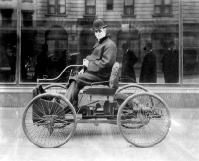 Henry-Ford-on-his-quadricycle