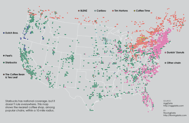 us map of coffee chain locations